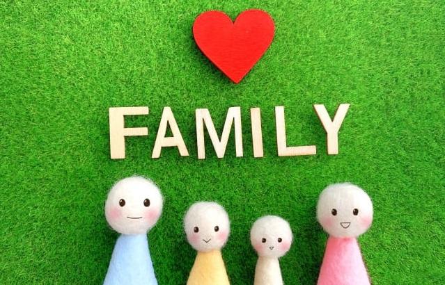 人形の4人家族